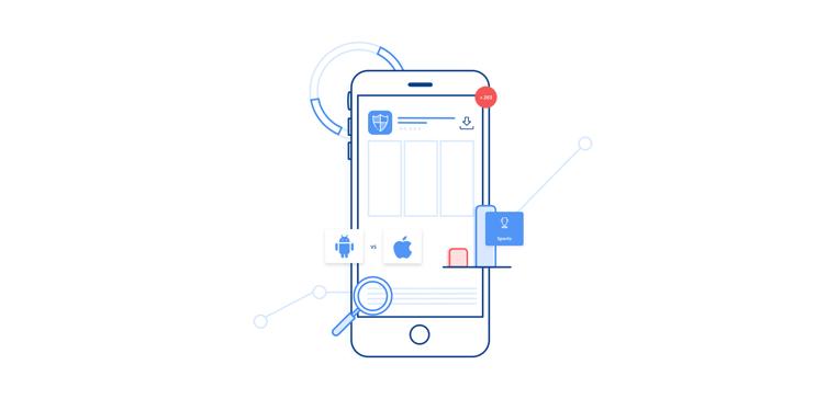 Illustration of app data
