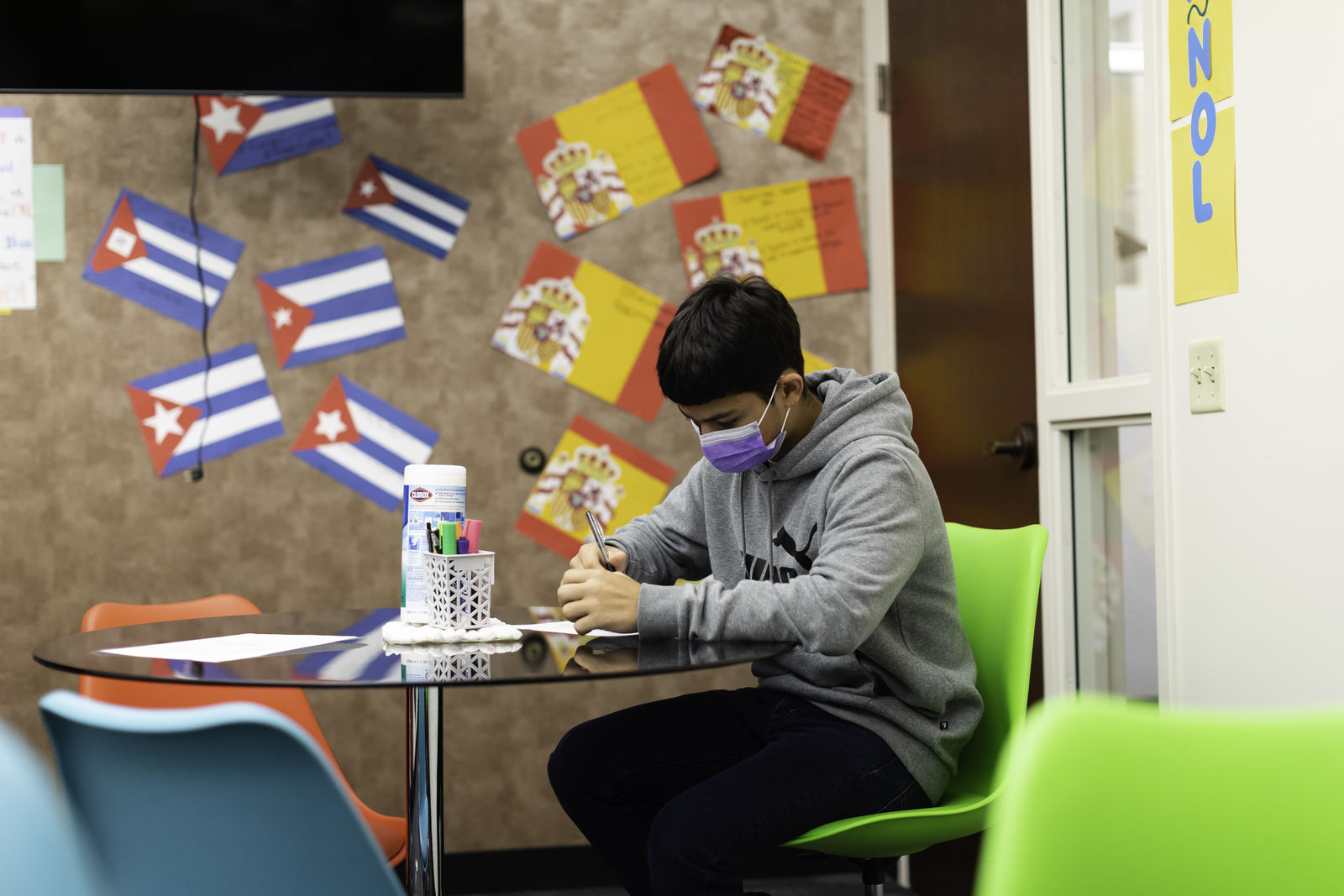 Photograph of a student at Quest Forward Academy