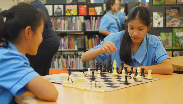Redeemer College chess playing