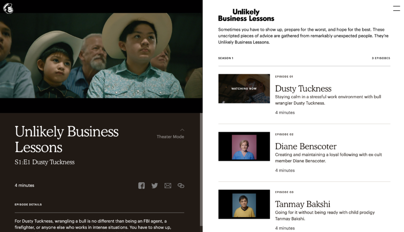 Mailchimp video: unlikely business lessons