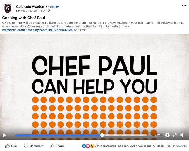Screenshot of Facebook Video