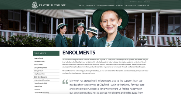 Clayfield-College-Landing-Page