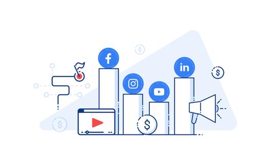 Image: social media metrics