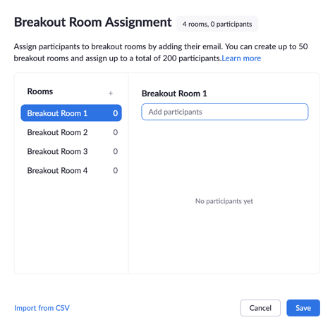 Assign Breakout Rooms
