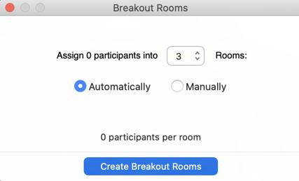 Set Breakout Rooms