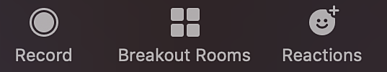 Select Breakout Rooms in Zoom