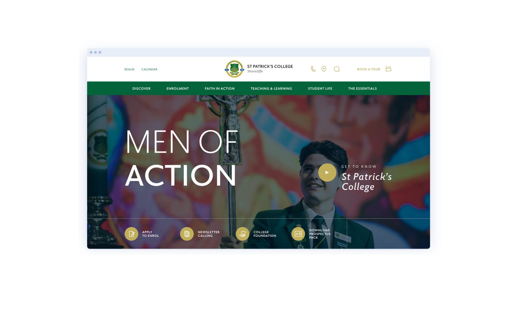 St Patricks College website