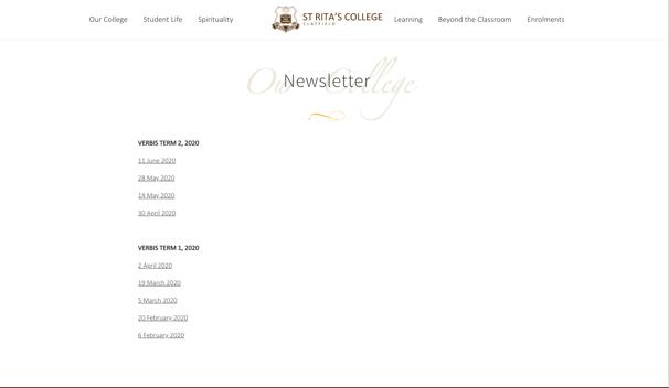 St Ritas College Newsletter