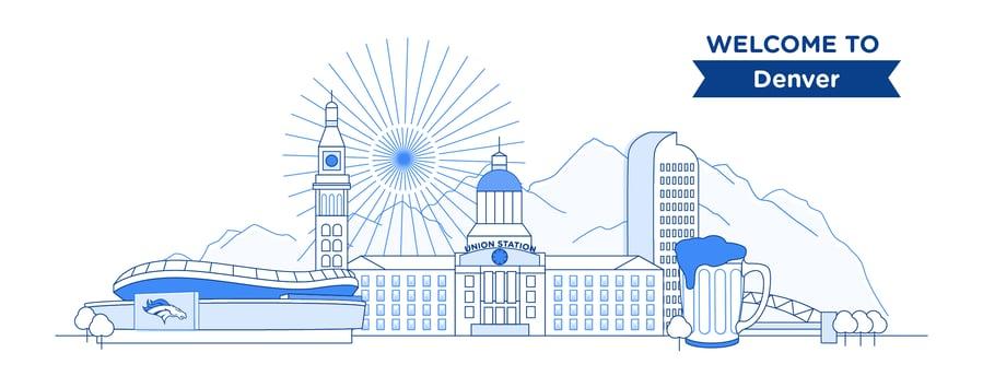 Denver illustration